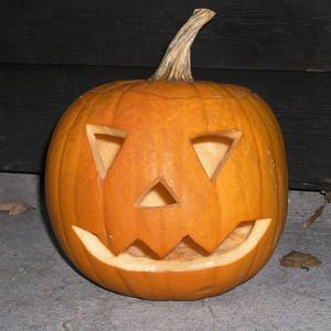 Bild på en halloweenpumpa.