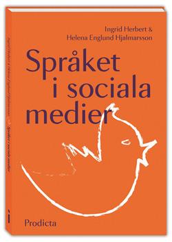 Bild på omslaget till boken Språket i sociala medier.